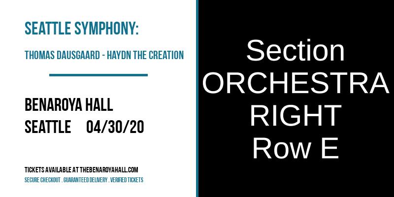 Seattle Symphony: Thomas Dausgaard - Haydn The Creation at Benaroya Hall