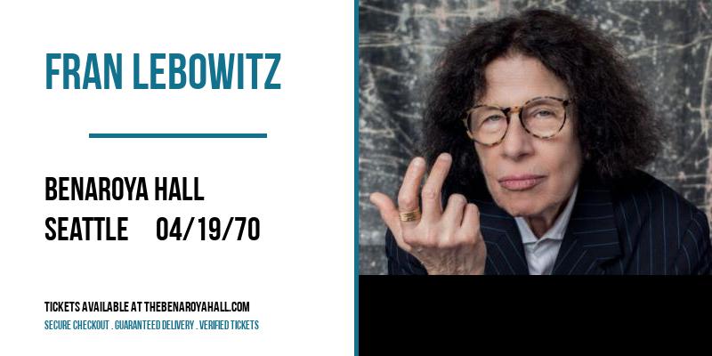 Fran Lebowitz [POSTPONED] at Benaroya Hall